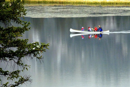 Canoeing on Silver Lake por pjlayton123.