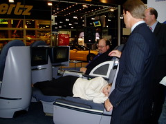 Continental BusinessFirst Seat in Use