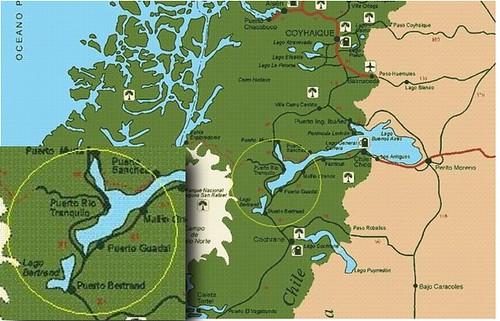 Mapa Puerto Tranquilo