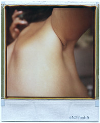 day 110 (kygp) Tags: girls people selfportrait paris france colour film home me analog myself nude polaroid sx70 photography back hand skin corps 365 expired 365days kygp 365ru