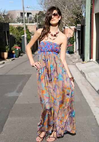 strapless honey beau outdoor dress