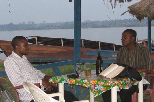 Germain and Dedieu at buvette-Kindu