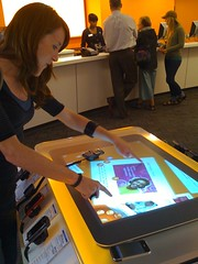 Microsoft Surface table in an AT&T store