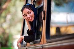 Girl on a bus (damonlynch) Tags: people woman bus girl persian iran muslim islam religion headscarf hijab vehicle iranian hamedan shiite soheila