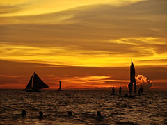 Sunset (julesnene) Tags: travel sunset beach fun boat philippines boracay aklan boracayisland julesnene juliasumangil