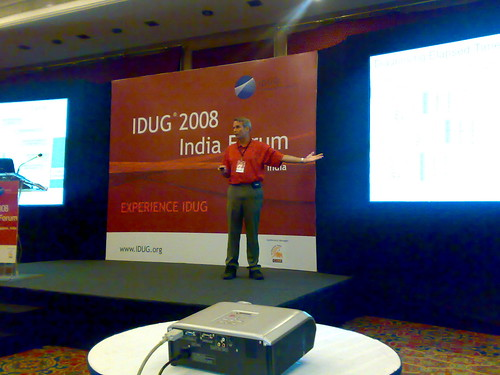 Curt Cotner during the Keynote explaining IBM Data Studio