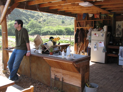 Outdoor Kitchen at Blue House Farm