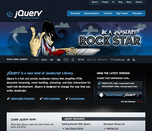 JQuery intermediate site