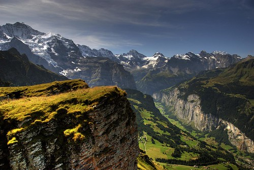 View of Lauterbrunnen Valley from Mannlichen / HDR