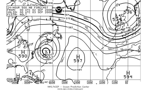 Atlantic 500mb 9-3-08