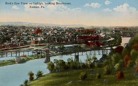 EASTON, PA // 1910, Postcard