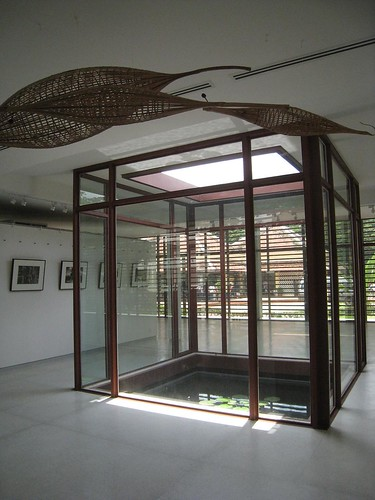 Inside the new Angkor Children's Hospital visitor center (hospital can be seen through window)