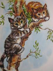 These kittens love to climb trees (Heart felt) Tags: vintage illustrations kittens books retro childrens