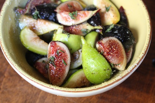 Figs in Thyme Pepper Syrup