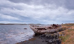 Final resting place (Birkir Jnsson) Tags: ocean sky clouds fence boat iceland rust ship shipwreck gress stranded flatey ndgrad