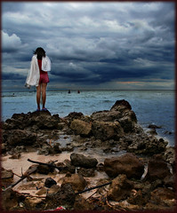 Julie and the Horizon (kin2y) Tags: sea storm canon pilipinas inspiredbylove cebusugbo conceptualimage