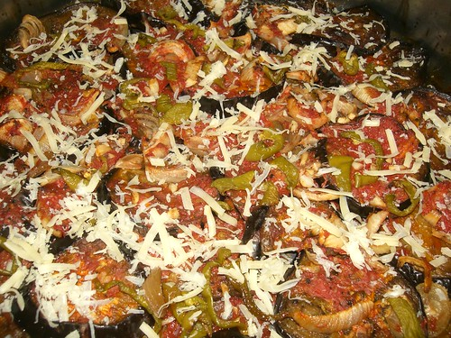 aubergine eggplant pizza