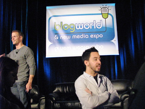 Tim Ferriss and Mike Shinoda @ Blog World