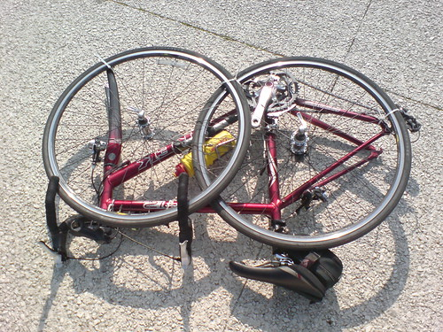 Bicycle dismantled