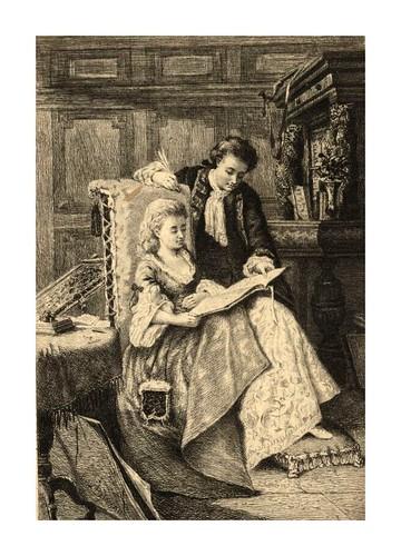 008- Waverley  y Rose Bradwardine grabado por Ben. Damman para la novela Waverly de W. Scott