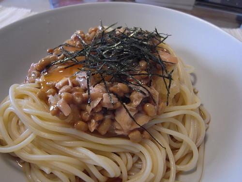 087 納豆スパゲティ