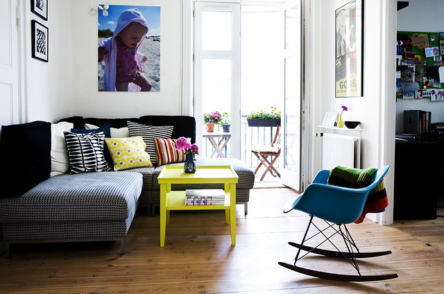 ikea yellow poster furniture livingroom eames