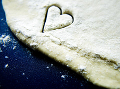 Baking With Love (Michelle in Ireland) Tags: blue fab food cutout baking heart cut dough flour shape platinumheartawards