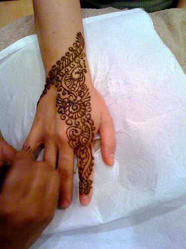 mendhi drawing