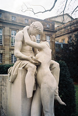Stuttgart, Germany 2006 (Chicago_Tim) Tags: lovers kiss statue sculpture art germany badenwurttemberg 2006 travel stuttgart capital winter