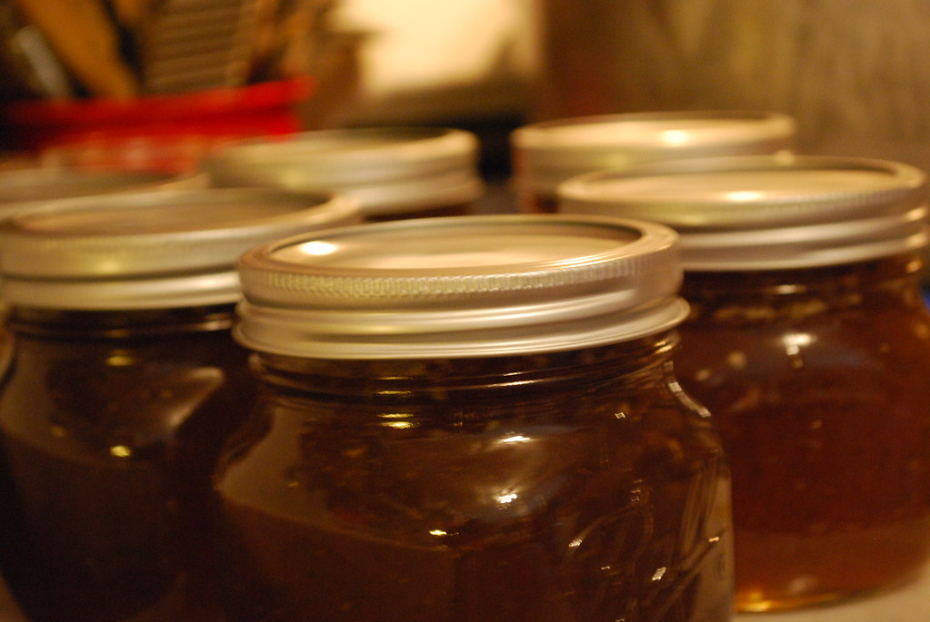 Pepper Jelly in Jars