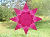 8-pointed Pink Star With Diamonds In Points