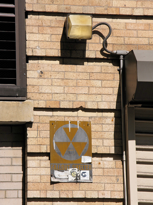 fallout shelter sign in Manhattan, NYC