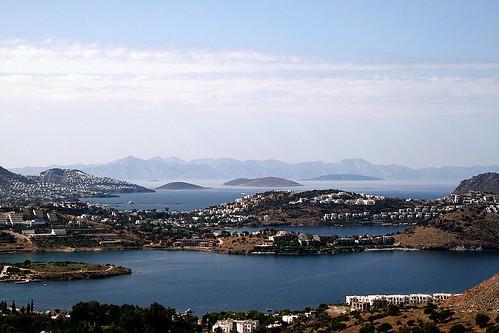 Bird's eye view Yalıkavak-Bodrum....Kos İsland Greek.... by Stina Baruh.