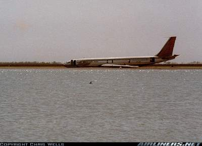 Plane in the Nile