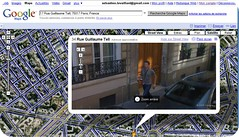 seb caught on Google Maps in Paris last june - 2