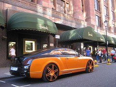 Mansory Bentley (Rob Agar Photography) Tags: uk trip england orange black london car canon rich continental harrods gt bentley conti mansory contigt