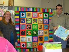 2008_1019 Amy and Mike with baby quilt