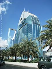 Into the blue... (Riyad-KSA) (-Mohamed-) Tags: blue tower skyscraper mall al construction open gulf centre kingdom center east ciel saudi arabia highrise middle orient now riyadh novotel ksa gratte riyad moyen centria anoud wassil 3anoud thebleu