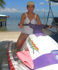 Davao 2008 - Seagull White Sand Beach Resort (let) Tags: ocean city woman sports beauty smile lady female island boat asia pretty amy metro speedboat seagull philippines fil charm resort wh