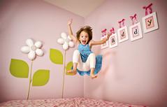 Jump Maddy! (isayx3) Tags: pink green girl jump jumping nikon ribbons angle wizard wide 24mm pocket d3 24mmf28af kiddywinks strobist challengeyouwinner mywinners flickrchallengewinner pfogold goldstaraward thechallengefactory