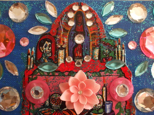 embellished collage piece for my altar