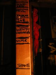 10/18/08 (sixheadedgoblin) Tags: shanty wendy heightchart