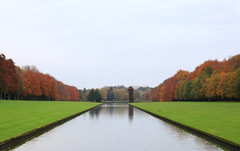 Park Tervuren (Kenny 84) Tags: park autumn orange reflection tree water grass museum landscape leaf europe belgium tervuren flanders africamuseum
