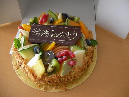 結婚祝いのケーキ