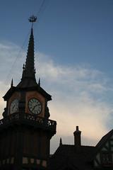 DisneyLand (cigarettesandheartbreak) Tags: california clock silhouette disneyland disney spire weathervane anaheim pirateship travelphotography disneylandcalifornia pirateshipweathervane
