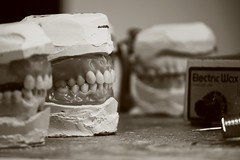 Wax Setup (DentTech) Tags: ga georgia teeth athens dental lad canonrebel wax setup sephia job dentures watkinsville xti denttech