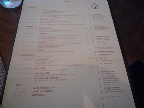 Canyon Ranch Living Miami Beach-Lunch Menu