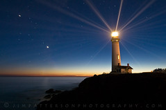 Pigeon Point Lighthouse Anniversary Lighting - San Mateo, California (Jim Patterson Photography) Tags: california lighting longexposure lighthouse seascape night lens stars landscape coast anniversary event fresnel annual beams sanmateo pigeonpoint onblue beaming landscapephotography jimpatterson nikkor1224mm oceanscape seascapephotography nikond300 beneathblueseas beneathblueseascom jimpattersonphotography jimpattersonphotographycom seatosummitworkshops seatosummitworkshopscom