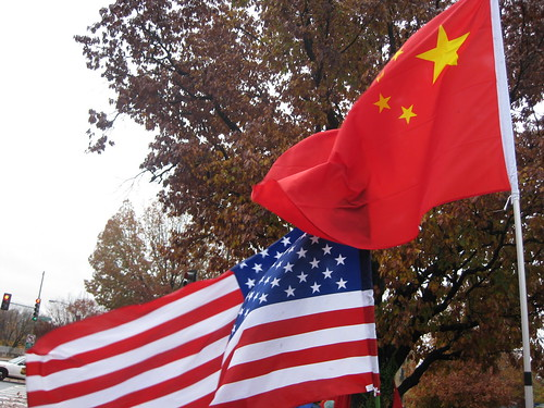American and Chinese flags by futureatlas.com, on Flickr