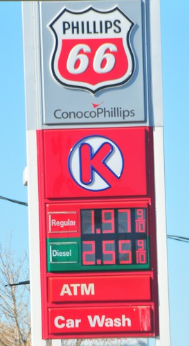 Sunday gas prices all up and down 4th St